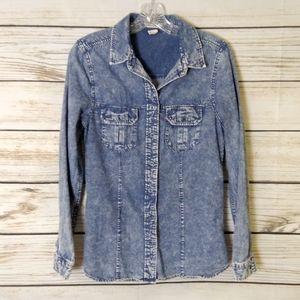 Levi's Acid Wash Chambray Button Down Shirt Medium